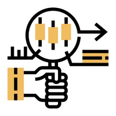 See more icon inspiration related to trend, stock, business and finance, hands and gestures, bar graph, analysis, magnifying glass, hand and chart on Flaticon.