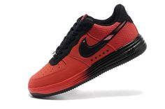 Nike Male Lunar Force 1 LTHR - Superhero Pack (University Red) #shoes