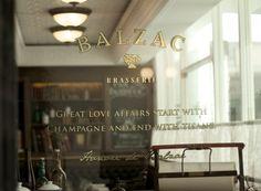 Balzac Brasserie - Branding / Identity / DesignBranding / Identity / Design #signage #elegant #balzac #gold