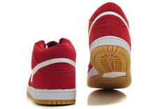 Nike Dunk White 2012 New Cut Mens Shoes Brickhouse Red