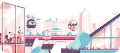 "illustration for the french company ""Gecina"" #urban #vector #diagram #tom #illustration #haugomat #work"