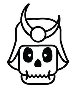 Samurai Skelety #skull #skeleton #character