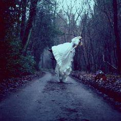 Levitating in My Dreams - My Modern Metropolis #people #flying #path #street #dark