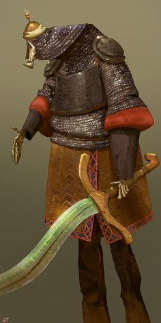 Mar Shamshir by Abe Taraky #design #sword #illustration #concept #art #warrior #armour