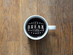 Breaktime #typography