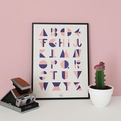 #nordic #design #graphic #illustration #danish #letters #simple #nordicliving #living #interior #kids #room #poster #alphabet #flip #rosa
