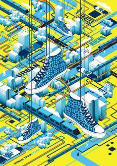 Urban Transport on Behance #illustration #isometric