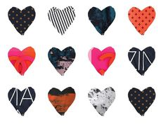 heart fashion #pattern #animated #gifs #color #fashion #clueless #typography