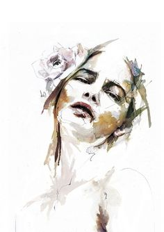 Capítulo 01 na Rede Behance #watercolor #portrait #illustraton #painting