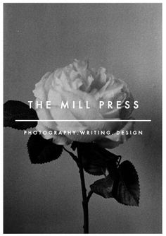 Posters/Prints : the mill press #retro #press #poster #phography #typography