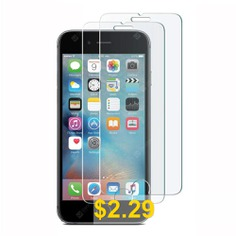 2 #PCS #HD #Screen #Protector #for #iPhone #6 #/ #6S #9H #HD #Tempered #Glass #Film #Bubblefree #- #TRANSPARENT