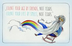 Zaczarowana Walizka #illustration #happiness #beard #rainbow #sky #john lennon #quote #sunglasses #cloud #smile #age