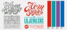 Liljevalchs Gallery Exhibition Identity on Behance #liljevalchs #snask #handmade #sewing