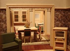 Bungalow Interior | Flickr - Photo Sharing! #interior #miniature #diorama #art