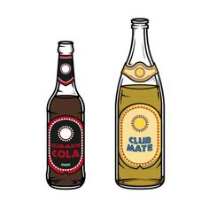 Illustrations | 'Club Mate' & 'Club Mate Cola' #illustration #club #mate #icon #design