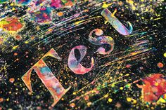 Experimental Typography set by Ruslan Khasanov #design #graphic #experimental #colorful #typography