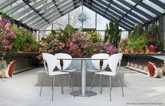 STUA design outdoor furniture: Globus chairs & Zero table #chair #design #tua #globus