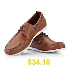 Men's #Stylish #Casual #Flat #Shoe #- #BROWN