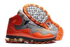 air flyposite cool grey and total orange men basketball shoes #shoes