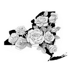 """New York In Bloom"" by Chris Cerrato | http://cerratosaurus.com/"