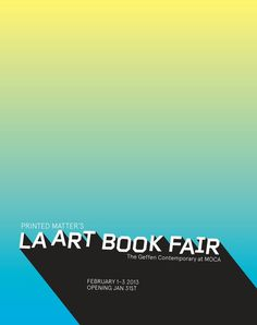 LA ART BOOK FAIR #id #print #poster