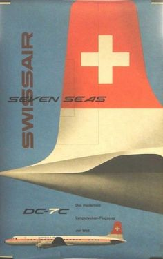 Retro Swissair posters and ads | Jared Erickson #poster #swiss air #aircraft