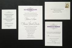 Cargo #invite #invitation #print #letterpress #wedding