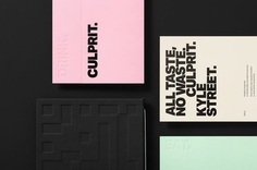 Brand identity, drink and food menus by Studio South for Auckland bar and restaurant Culprit