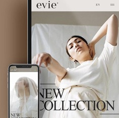"""Brand Identity for """"Evie"""" - Mindsparkle Mag Leandra Rexhepi designed the Brand Identity for the fashion brand """"Evie"""". For the project she used a warm colour palette, centered around different tones of brown. #logo #packaging #identity #branding #design #color #photography #graphic #design #gallery #blog #project #mindsparkle #mag #beautiful #portfolio #designer"""
