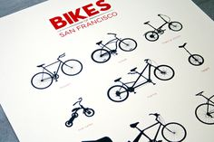Bikes of San Francisco #bicycle #graphic #san #bike #francisco