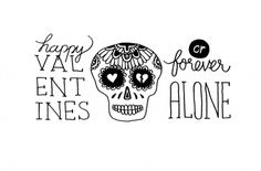 tumblr_m1jsqyn7151rqhy40o1_1280.jpg (1200×793) #valentines #lettering #paper #illustration #drawn #pen #skull #hand #typography