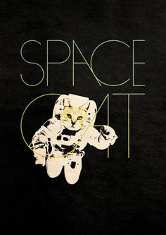 Space Cat Art Print #art #illustration #cat #space
