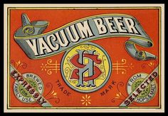 Vacuum Beer label #beer #label #typography