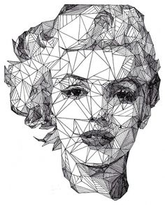 20 awesome and creative portrait ideas » Blog of Francesco Mugnai #illustration #geometric #pen