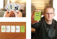 Jeremy Wilkins | Typestache #packaging #print #design #typography #typestache #cards #green