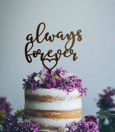 text-wedding-cake-topper