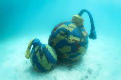 olek underwater crochet sculpture designboom #crochet