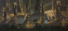 1980 ... Syd Mead- 'Bladerunner' concepts | Flickr - Photo Sharing! #syd mead #blade runner #concept art #city #night
