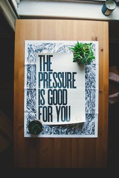 The pressure is good for you || Adam Garcia #pressure #the #poster #type #typography