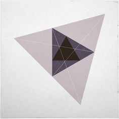#221 Triangular space – A new minimal geometric composition each day