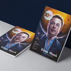 Edición 10 Revista Se+ para Semana Económica - TIME magazine revival. @elonmusk @jennyvarillas @marthars25 #design #semanaeconomica #elonmusk #vamosamarte #editorialdesign #illustration #mutantestudio