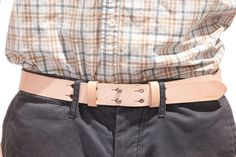 No. 177 Double Button Belt, Natural #leather #belt #billykirk