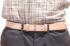 No. 177 Double Button Belt, Natural