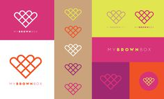 MyBrownBox identity on Behance #logo #my #brown #box