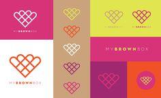 MyBrownBox identity on Behance #logo #my #brown #box