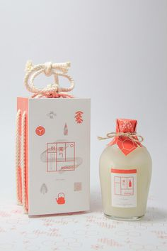 Japanese Minori Sake packaging design #minimalistic #packaging #design #sake #japan