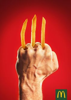 McDonald's Print Advert By DDB: Wolverine