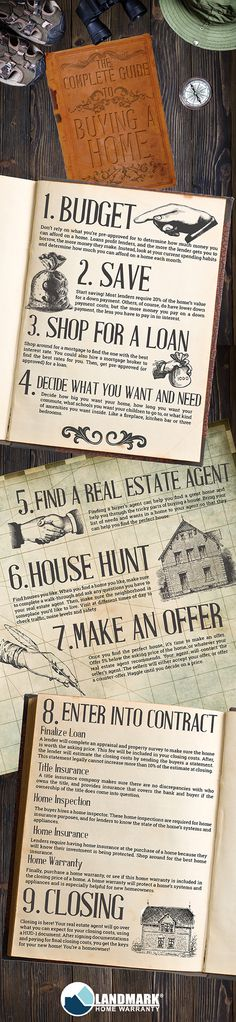 A #vintage adventure #infographic about buying a new home