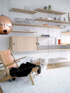 From Scandinavia with love - design & style (Bringing the String shelf into the 21st century. ...) #furniture #string shelve