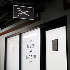 Roger The Barber by Cast Iron Design #sign